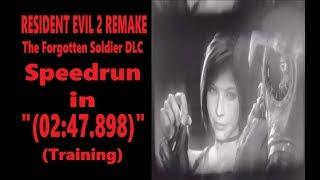 "The Forgotten Soldier DLC (Training) Speedrun in ""(02:47.898)"" | Resident Evil 2 Remake (PS4)"