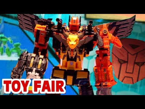 TOY FAIR 2018 NY HASBRO TRANSFORMERS POWER OF THE PRIMES REVIEW WALKTHROUGH NEW YORK Predaking