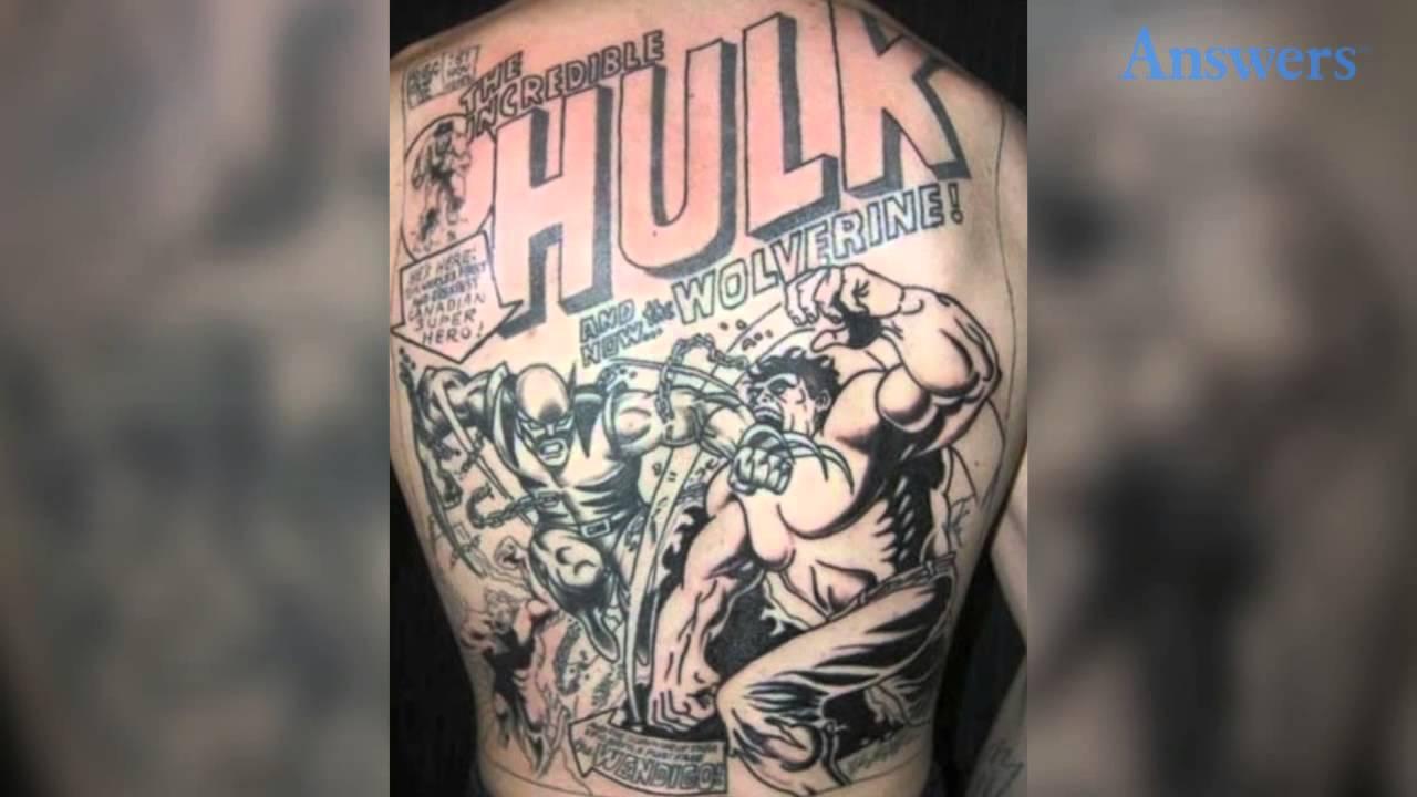 Amazingly Beautiful Superhero Tattoos