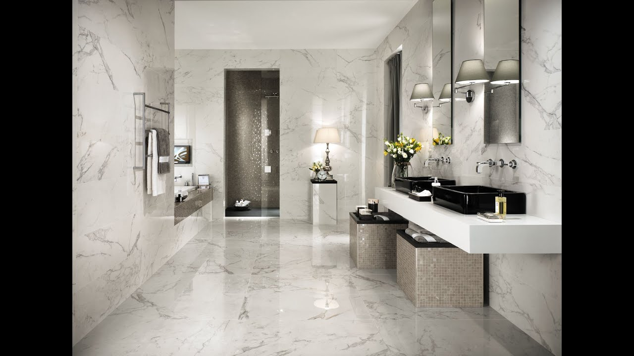 Absolute brightness  Marble look bathroom  Marvel