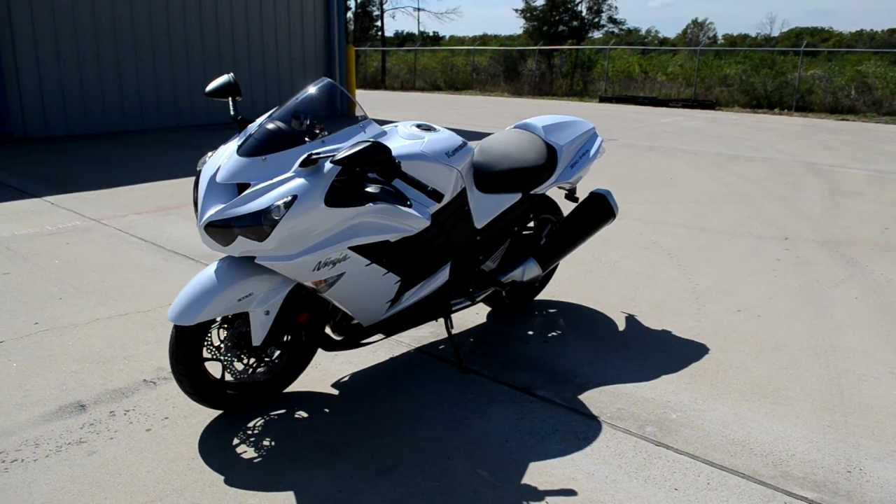 On Sale $11,999 / 2013 Kawasaki ZX14R Pearl Stardust White ...