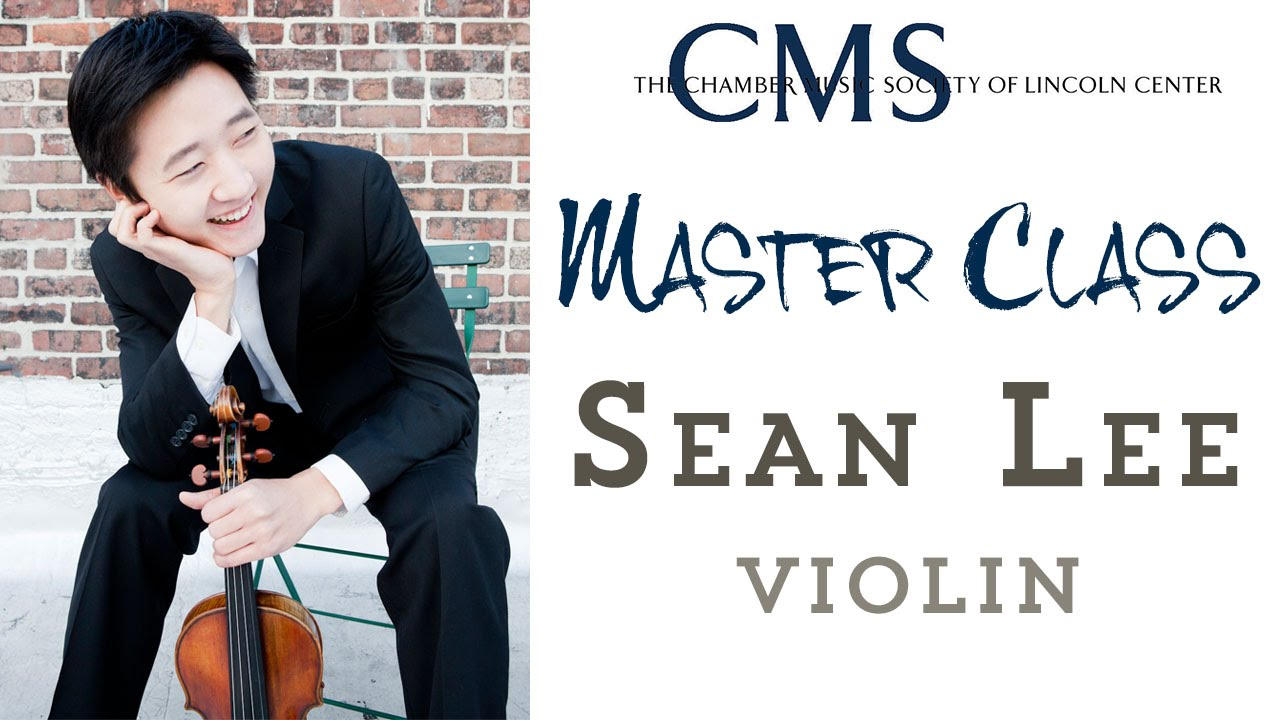 Master Class with Sean Lee, violin
