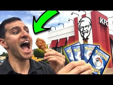 KFC CHICKEN and POKEMON CARDS! DREAM COME TRUE! - SECRET RARE Energy Where You At?! Episode 11