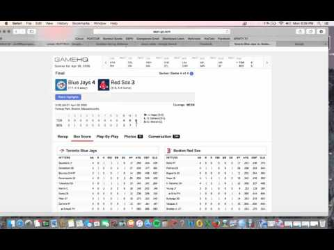 How to Read an MLB Box Score on ESPN.com