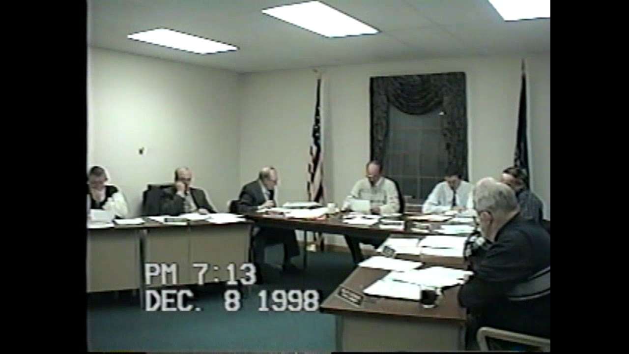 Champlain Town Board Meeting  12-8-98