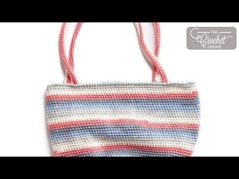 How to Crochet Market Tote using Caron Cotton Cakes
