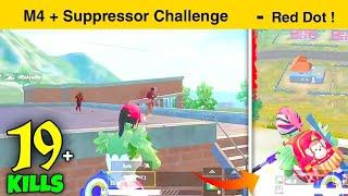 😤19 KILLS RUSH GAMEPLAY | M4 + SUPPRESSOR CHALLENGE | PUBG Mobile Lite - INSANE LION