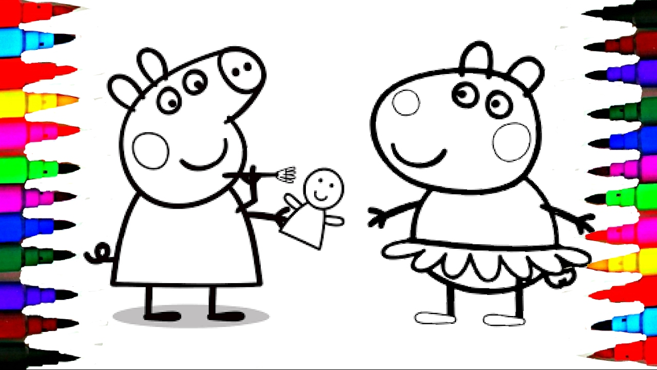 PEPPA PIG Coloring Book Pages Kids Fun Art Activities Videos For ...