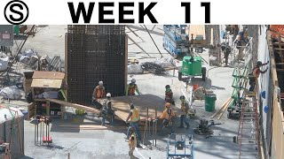 One-week construction time-lapse with closeups: Week 11 of the Ⓢ-series