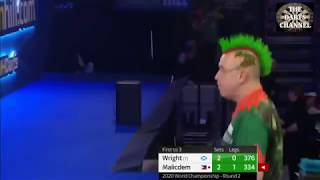 Peter Wright vs Noel Malicdem - final set and sudden death leg - PDC World Darts Championship 2020