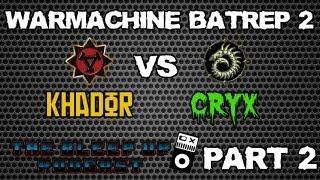 "Warmachine - Battle report - Khador vs Cryx - ""no man"