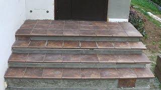 видео Отделка лестниц и ступенек бетонной лестницы