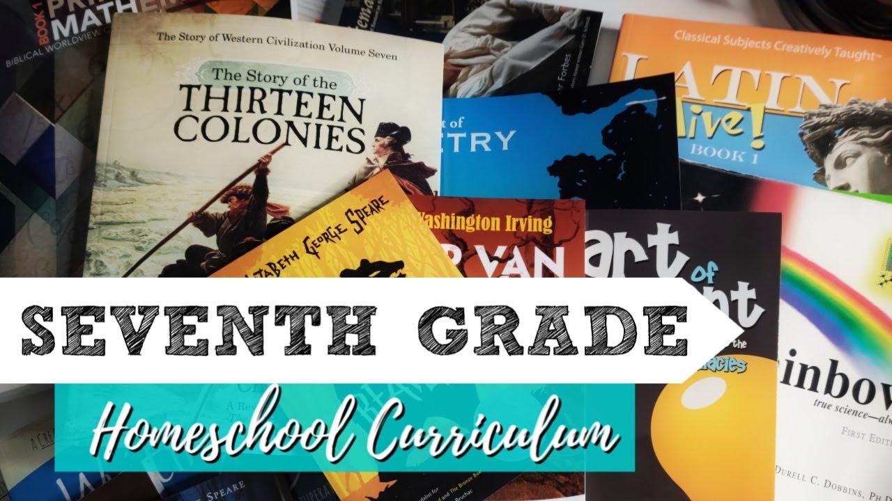 7th Grade Curriculum Picks || Middle School 2019-20 || Large Homeschool  Family