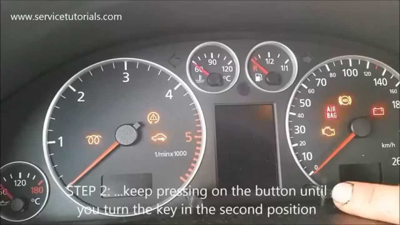 hight resolution of service light reset audi a6 1999 2004 in 4 simple steps youtube 99 audi a6 wiring light
