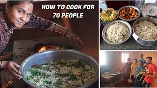 Veg Ghee Rice & Egg fry cooking for 70 people|How to cook eggs perfectly