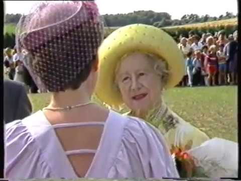 The Queen Mother at the Worstead Festival - Monday 29th July 1985.
