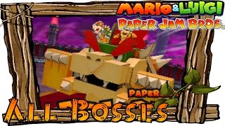 Mario & Luigi Paper Jam - All Papercraft Bosses | All Papercraft Boss Fights (Boss Battles)