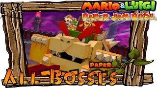 Mario & Luigi Paper Jam - All Papercraft Bosses   All Papercraft Boss Fights (Boss Battles)