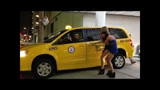 girls fight with taxi driver (like a crazy)