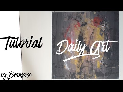 Easy Abstract Acrylic Painting For Beginners; Make Your Own Unic Wallpaper