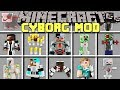 Minecraft CYBORG MOD l CRAFT CYBORG ROBOT ARMOR, WEAPONS AND MORE! l Modded Mini-Game