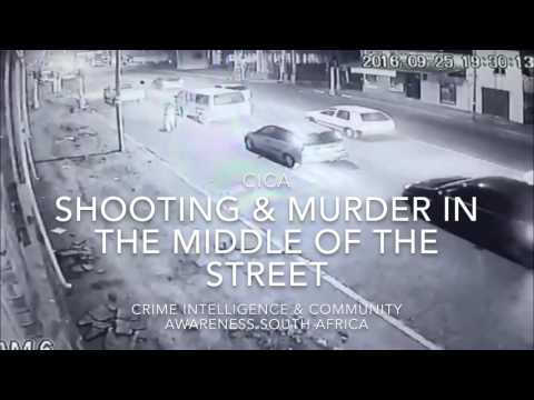 Cold blooded murder and assassination by shooting in middle of a Johannesburg street South Africa