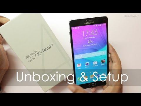Samsung Galaxy Note 4 Unboxing / First Boot / Overview - Indian Retail Unit