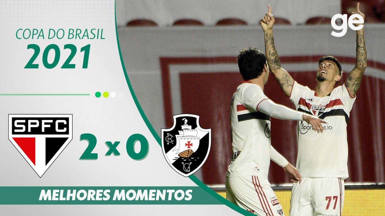 Download SÃO PAULO 2 X 0 VASCO | MELHORES MOMENTOS | OITAVAS COPA DO BRASIL 2021 | ge.globo