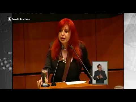 """""""Agarrón"""" entre Layda Sansores y Luis Videgaray en el Senado"""
