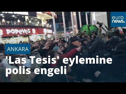 'Las Tesis' protestosuna Ankara'da polis engeli