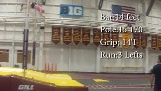 Video Pole vault Vlog 39: 14 feet from 3 lefts and my Moms Training download MP3, 3GP, MP4, WEBM, AVI, FLV Desember 2017