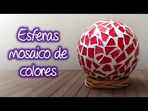 Esferas tipo mosaico de colores spheres mosaic of colors - Mosaicos de colores ...