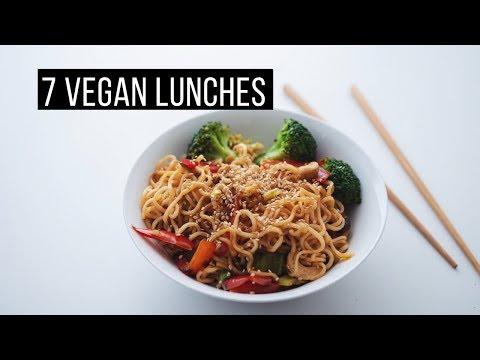 1 Week of Simple Vegan Lunches