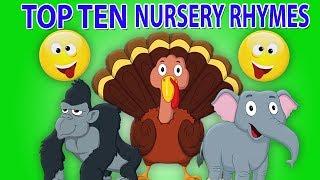 Топ десять детские стишки | Top Ten Nursery Rhymes | Preschool Russia | русский мультфильмы