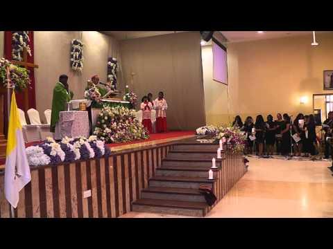 Holy Mass - Bishop Visit Doha Qatar - 2014 (Part 1)