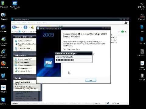 Easy Worship 2009 1 การลงโปรแกรม Easy Worship 2009