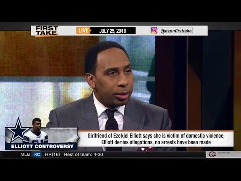 Stephen A. Smith Reacts to Ezekiel Elliott's Domestic Violence!