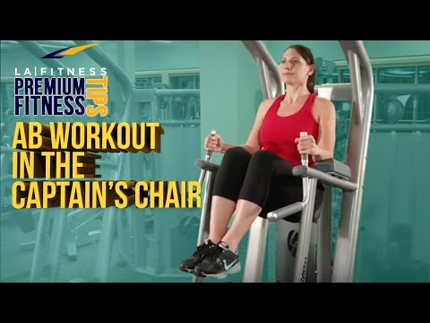 Learn An Ab Workout In The Captain's Chair - LA Fitness - Workout Tip