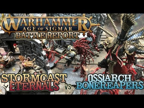 Warhammer: Age of Sigmar Battle Report - Ep 26 - Ossiarch BoneReapers vs. Stormcast