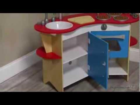 Melissa and Doug Cook\'s Corner Wooden Kitchen - Product Review Video