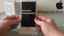 iPhone 6S Plus Apple Warranty replacement Unboxing