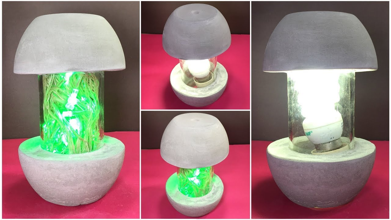 Betonlampe Diy How To Make Concrete Lamp Cement Decoration Ideas
