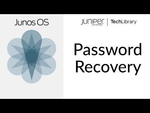 How To Recover The Root Password In Junos OS