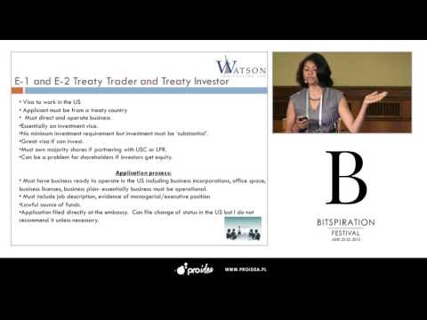 "Bitspiration 2015-  (Thamina Watson) ""U.S Visa Options for Startup Founders"""