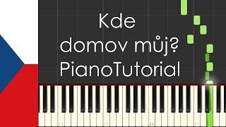 kde domov můj czech republic national anthem piano tutorial