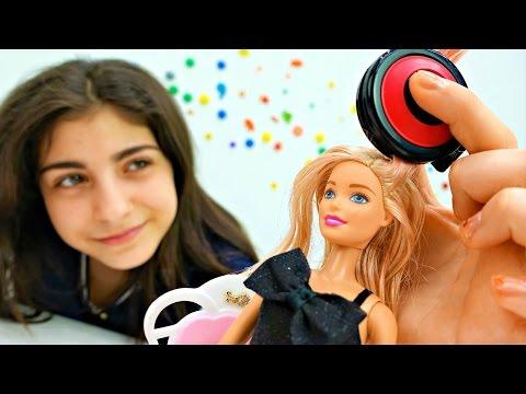 У куколки БАРБИ новая прическа: красим волосы! Эксперимент игры прически на Tube GIRLS