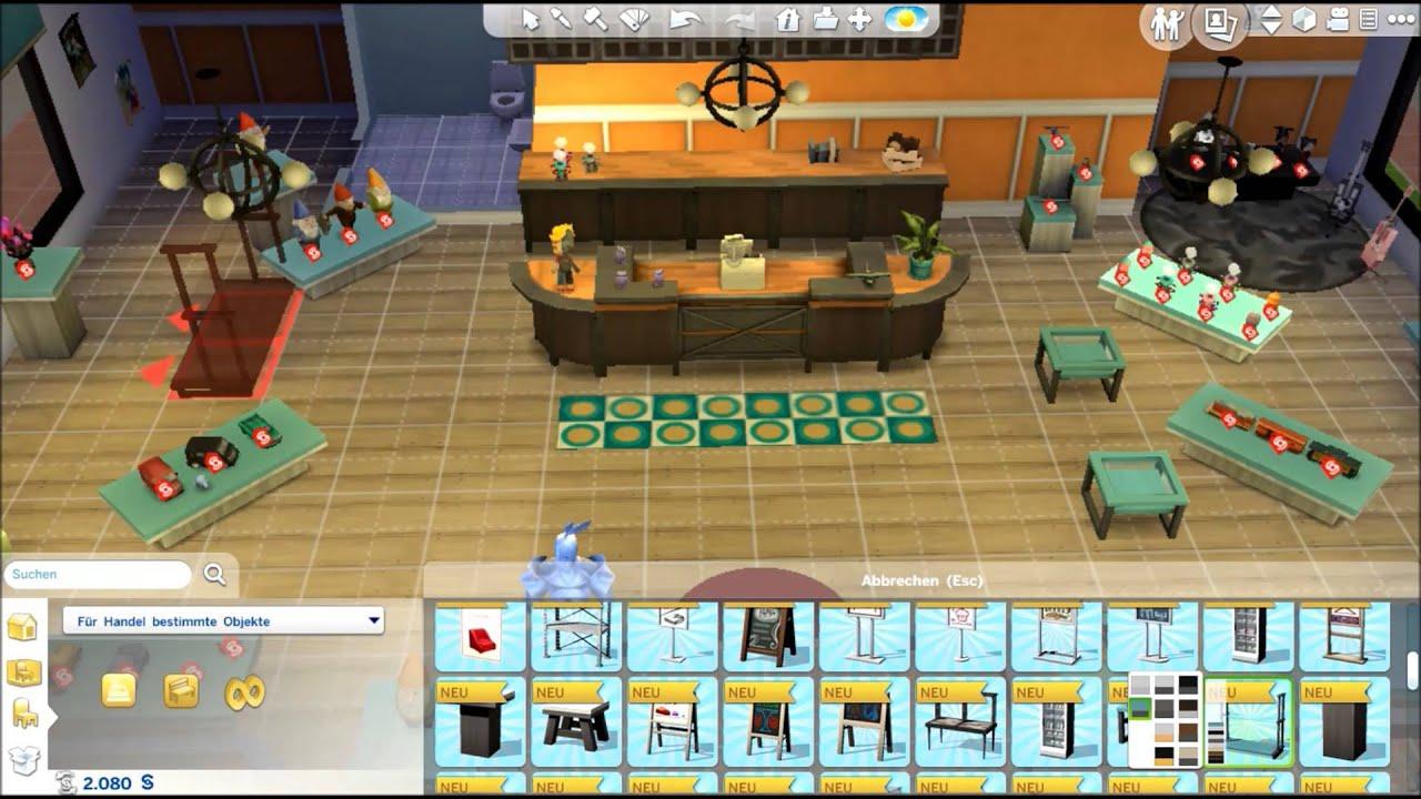 Die Sims 4 An Die Arbeit Ep Der Erste Eigene Laden Youtube