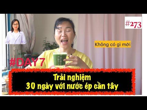 #273. Ngày thứ 7 - Uống nước ép cần tây lúc bụng đói buổi sáng| Trải nghiệm