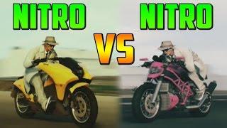 NITRO Dinka Vindicator VS NITRO Lectro - Test de Velocidad - GTA V Online PS4