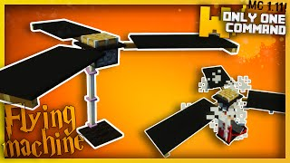 Minecraft - Flying Machine with only one command block! (No Mods! - Minecraft 1.9, 1.10 & 1.11)